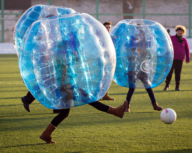 Bubble football or bubble soccer for you american folk is a thing look