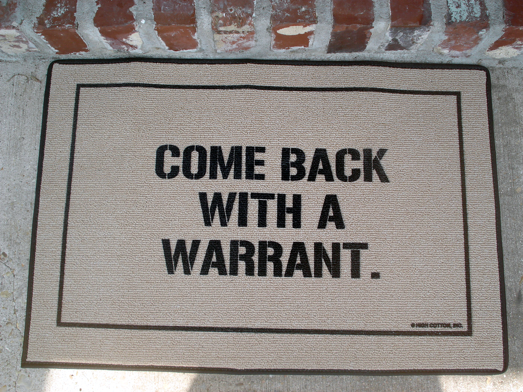 Come Back With A Warrant Doormat Stuff You Should Have
