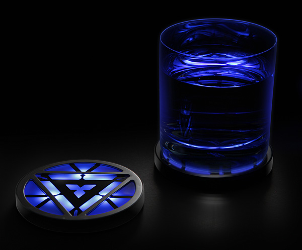 Iron man arc reactor lighted coasters stuff you should have - Lighted coaster ...