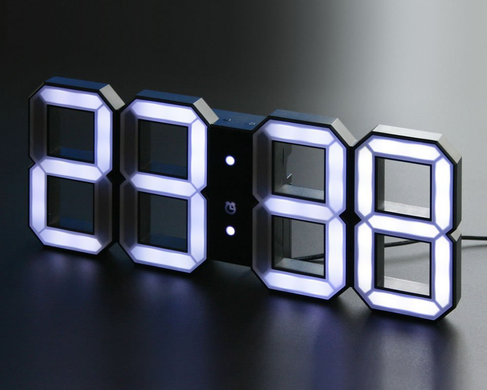 Minimalistic Digital Led Clock Stuff You Should Have