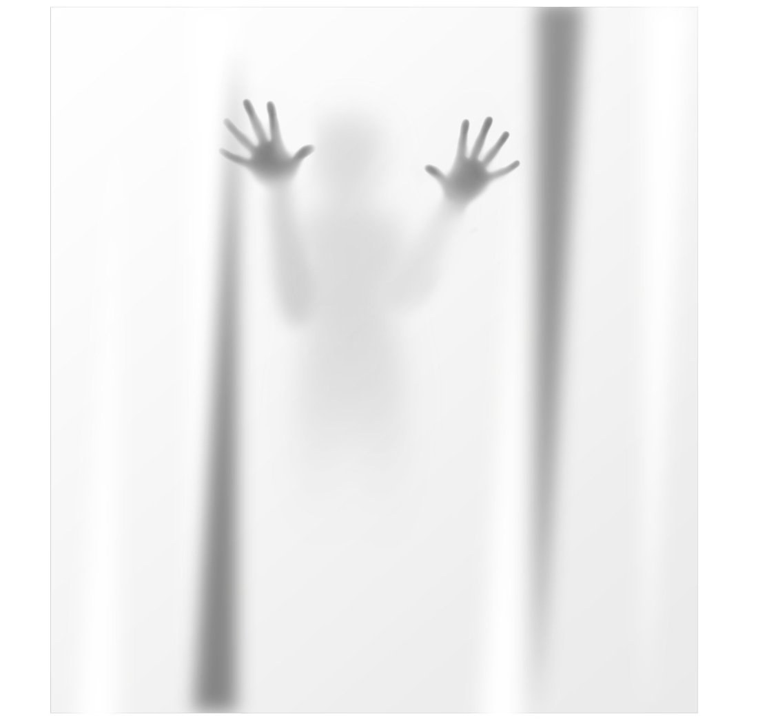 Scary silhouette shower curtain stuff you should have