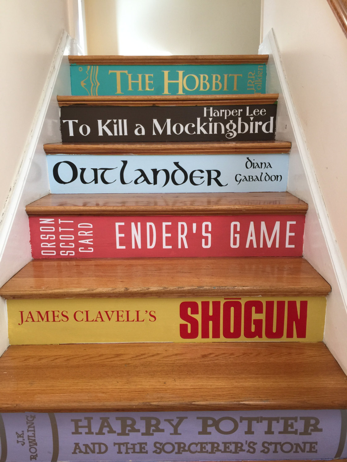 Classic Books Stair Stickers Stuff You Should Have