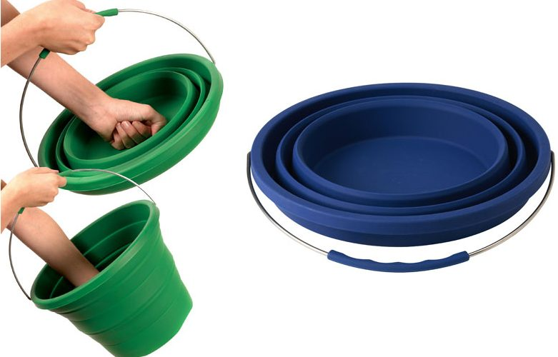 Collapsible silicone bucket stuff you should have for Innovative household items