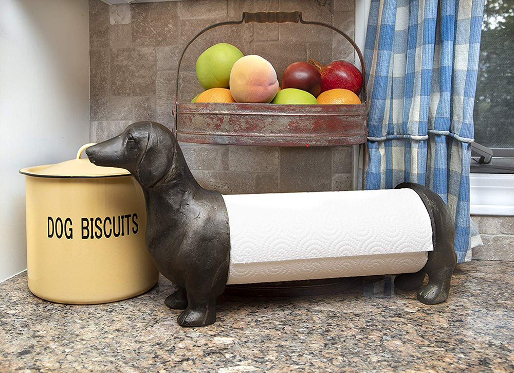 dog paper towel holder (dachshund)