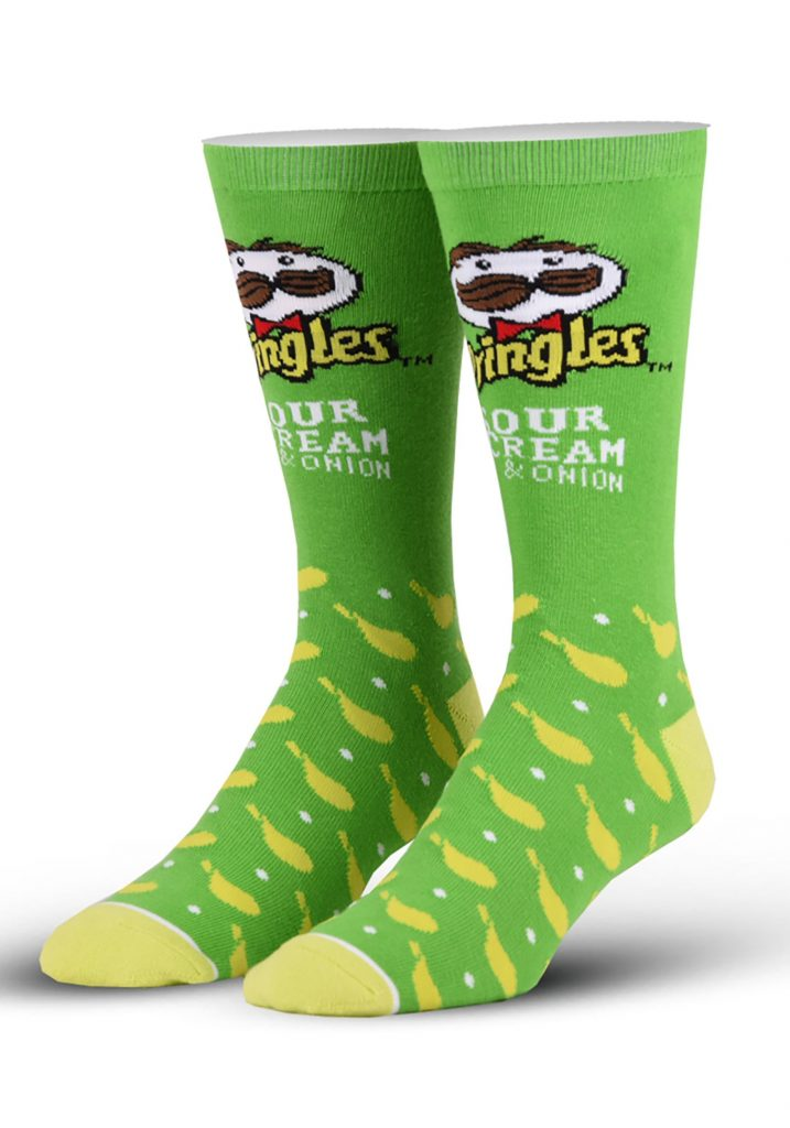 Pringles Sour Cream & Onion socks